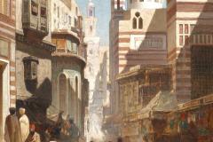 Alberto Pasini - Ulica Al-Khudayri v Kairu