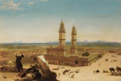 Alberto Pasini - Orient, pokrajina z mošejo
