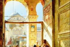 Gustav Bauernfeind - Vhod v veliko mošejo v Damasku