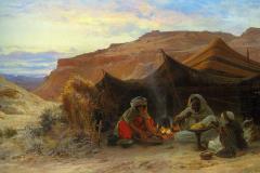 Eugène Alexis Girardet – Beduini v puščavi