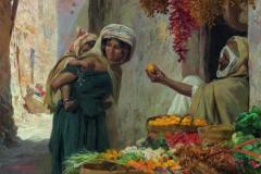 Eugène Alexis Girardet - Trgovec s sadjem