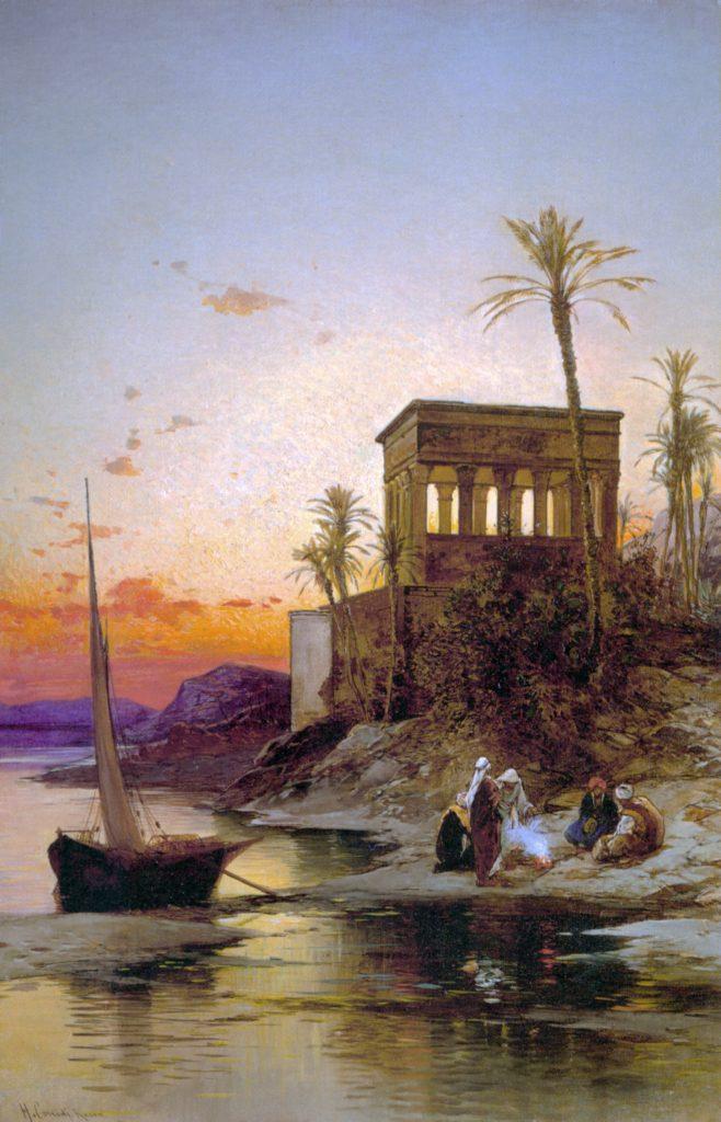 Maks Viktor | 1001 noč | Hermann Corrodi, Otok Philae na Nilu (19. stol.)