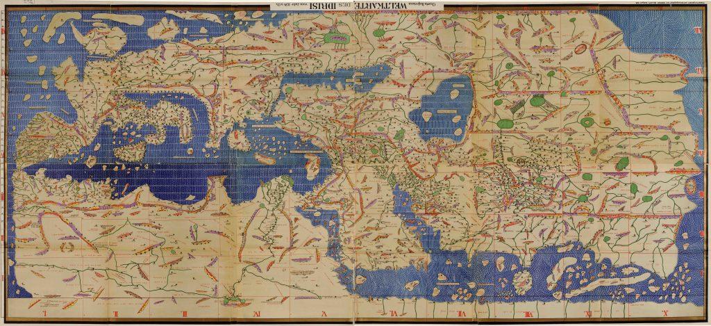 Maks Viktor | 1001 noč | Muhammad Al-Idrizi - Tabula Rogeriana (1154)